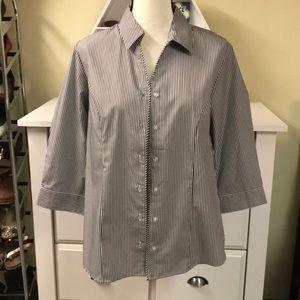 Christopher & Banks 3/4 length dress shirt Medium